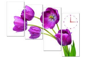 Tranh đồng hồ hoa Tulip HL0141