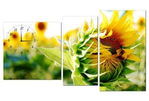 Tranh đồng hồ hoa hướng dương HL0122