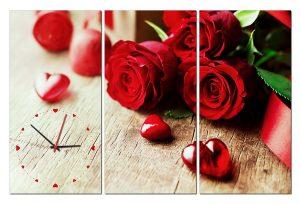 Tranh đồng hồ hoa hồng HL0143