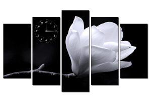 Tranh đồng hồ hoa ngọc lan HL0174