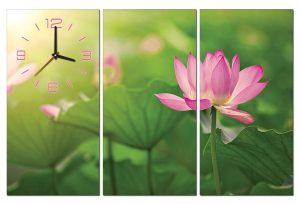 Tranh đồng hồ hoa sen HL0133