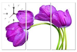 Tranh đồng hồ hoa tulip HL0131