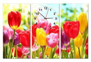 Tranh đồng hồ hoa tulip HL0171