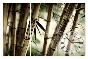 Tranh đồng hồ rừng tre TN0139