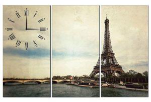 Tranh đồng hồ tháp Eiffel TN0111