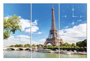Tranh đồng hồ tháp Eiffel TN0120