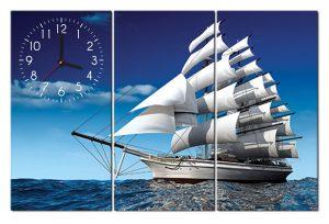 Tranh đồng hồ thuận buồm xuôi gió PT0101