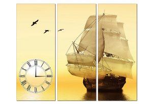 Tranh đồng hồ thuận buồm xuôi gió PT0102