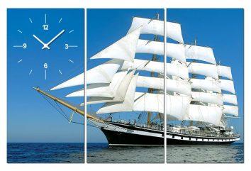 Tranh đồng hồ thuận buồm xuôi gió PT0107