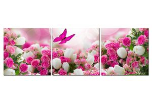 Tranh treo tường hoa bướm HL0124
