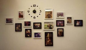 KA0127 - 13x18cm (2 khung), 9x23cm (1 khung), 9x13cm (12 khung), đồng hồ (1 bộ)