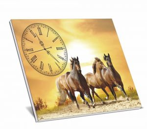 Tranh đồng hồ bộ  để bàn ms03