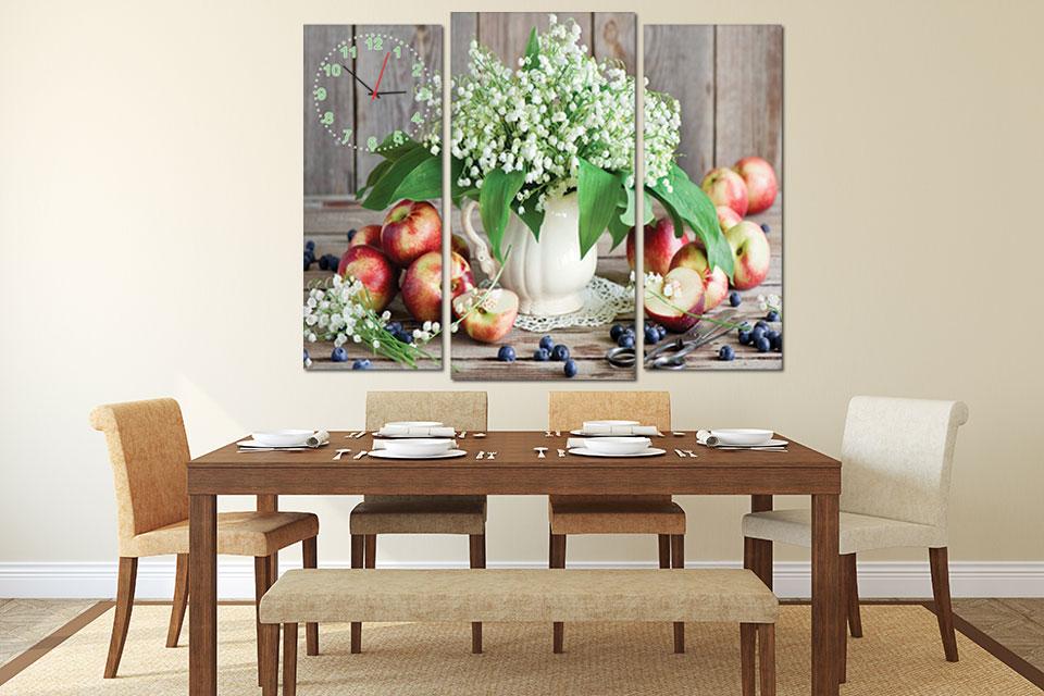Sử dụng bộ tranh - khung ảnh treo tường có hình ảnh hoa quả, cây xanh