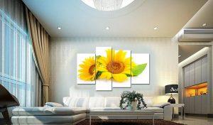 Tranh treo tuong hoa huong duong HL041