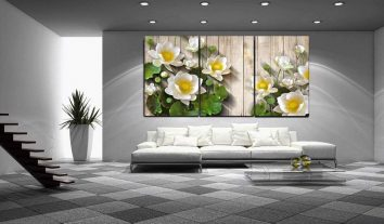tranh treo tuong hoa sen HL479