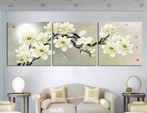 Tranh treo tường hoa mộc lan trắng HL476