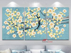 tranh treo tuong hoa lá Hl978