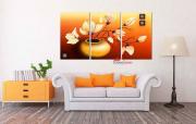 tranh treo tường hoa mộc lan Hl824