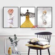 Tranh Scandinavia 3 cô gái nghệ thuật SCA1075