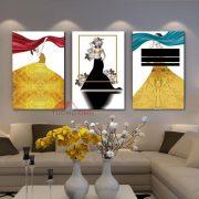 Tranh treo tường 3 cô gái nghệ thuật NT1072